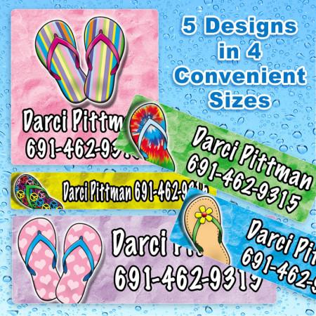 Flip-Flops Waterproof Name Labels For Kids
