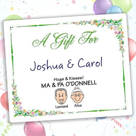 Floral Family Gift Label