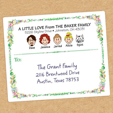 Floral Family Shipping Label