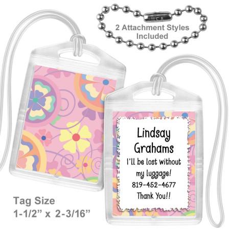 Flower Power Mini Bag Tag