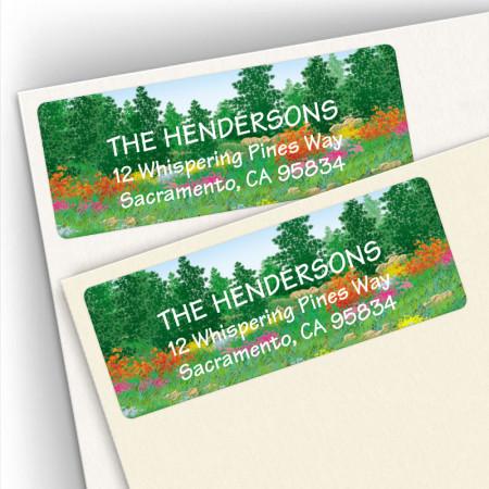 Flowered Forest Address Labels