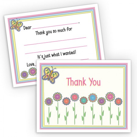 Flowers Fill-In Thank You Cards