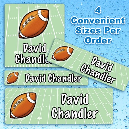 Football Waterproof Name Labels For Kids