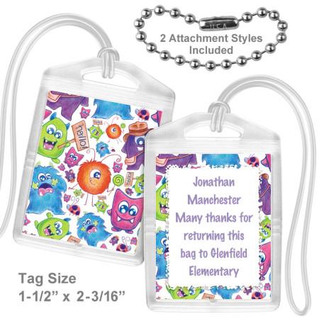 Friendly Monsters Mini Bag Tag