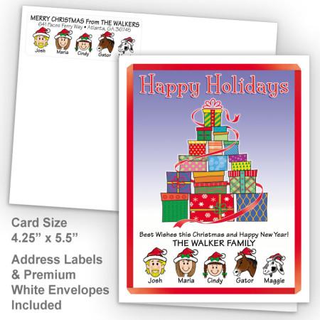 Gift Tree Happy Holidays Fold Note Set