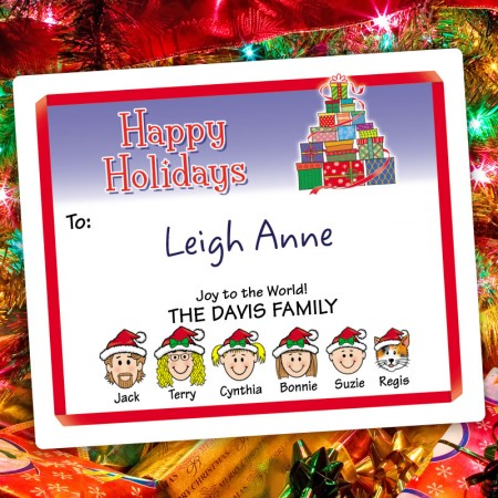 Gift Tree Holiday Gift Label