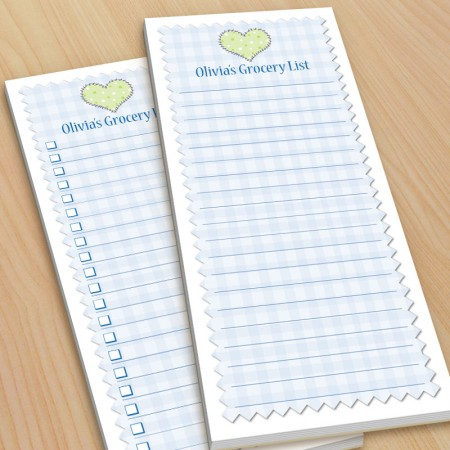 Gingham Blue To-Do Pads