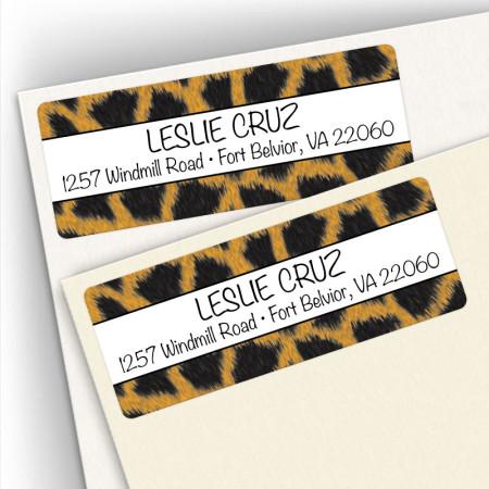 Giraffe Pattern Address Labels