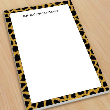 Giraffe Pattern Large Note Pads