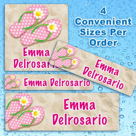 Girls Flip Flops Waterproof Name Labels For Kids