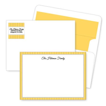 Gold Stripes Artistic Correspondence Card Ensembles