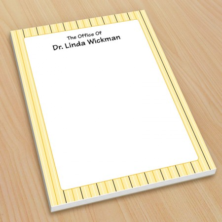 Gold Stripes Small Note Pads