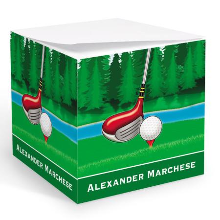 Golf 1 Memo Cube