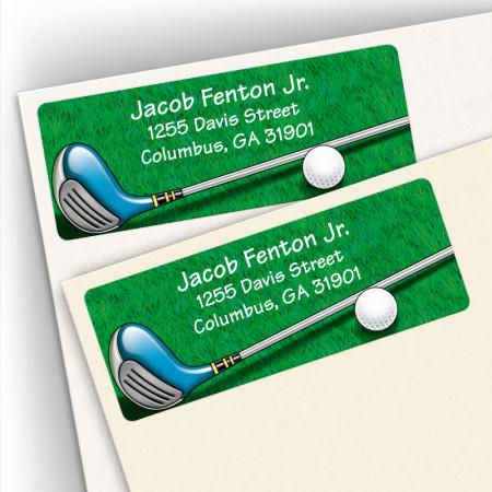 Golf Design 3 Address Labels