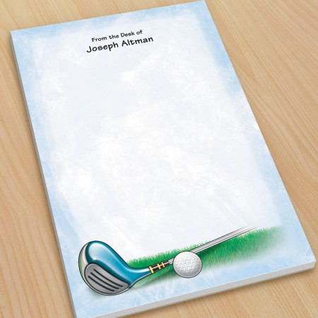 Golf Design 1 Large Note Pads