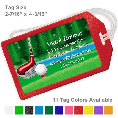 Golf Design 1 Luggage Tag