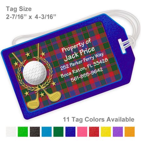Golf Design 2 Luggage Tag
