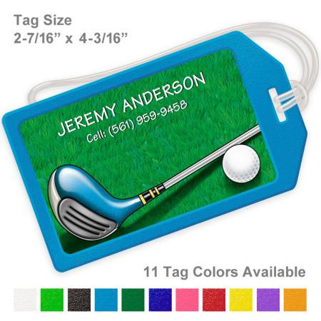 Golf Design 3 Luggage Tag