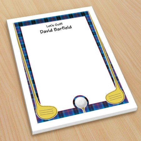 Golf Design 3 Small Note Pads