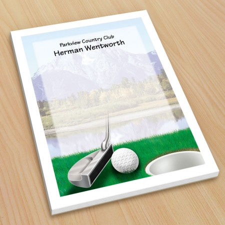 Golf Design 4 Small Note Pads