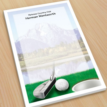Golf Design 4 Large Note Pads