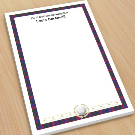 Golf Design 5 Large Note Pads