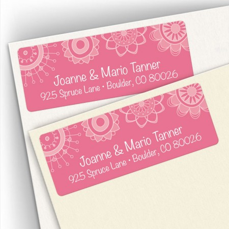 Gossamer Flowers Address Label