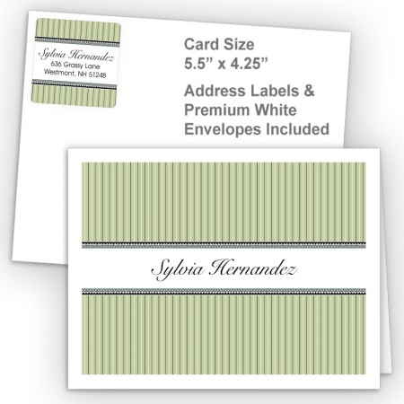 Green Stripes Thank You Card Package