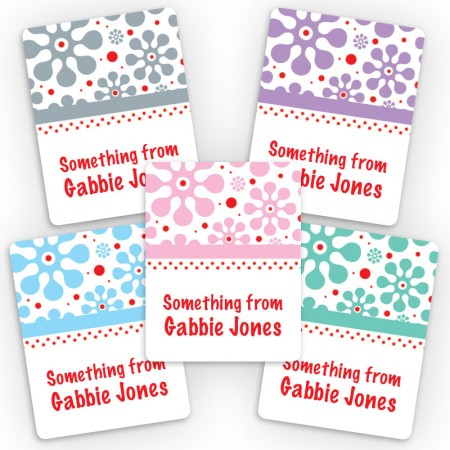 Groovy Flowers Mini Gift Labels