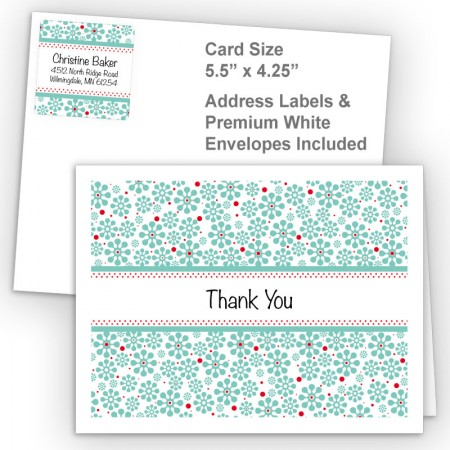 Groovy Flowers Thank You Card Package