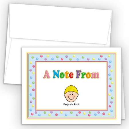 Gumballs Foldover Family Note Card