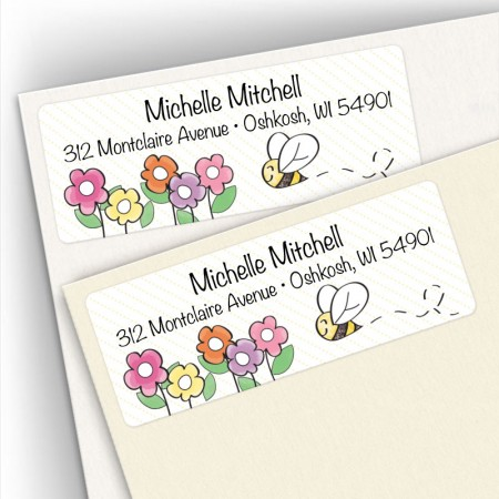 Happy Bumblebee Address Labels