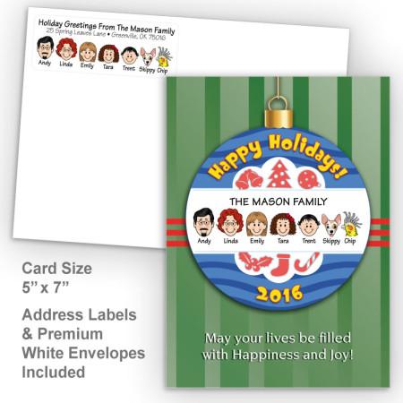 Happy Holiday Ornament Style I Holiday Card Set