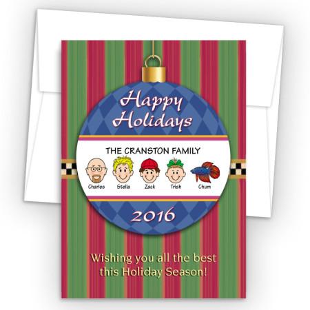 Happy Holiday Ornament Style I Holiday Cards