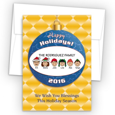 Happy Holiday Ornament Style N Holiday Cards