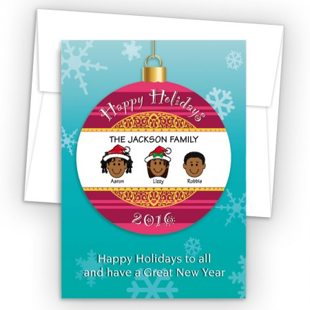Happy Holiday Ornament Style O Holiday Cards
