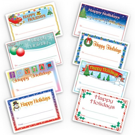 Large Happy Holidays Gift Labels