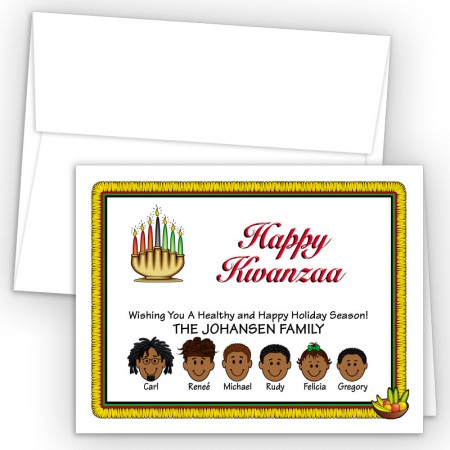 Candles Happy Kwanzaa Cards