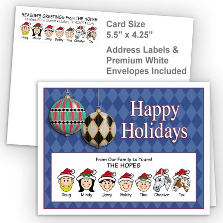 Harlequin Ornaments Happy Holidays Fold Note Set