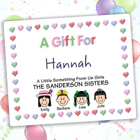 Hearts 1 Family Gift Label