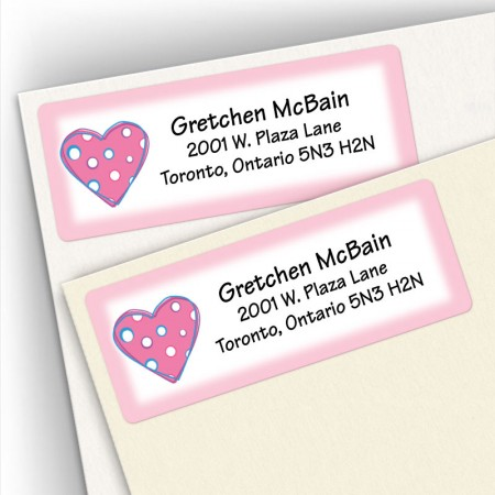 Hearts 2 Address Labels