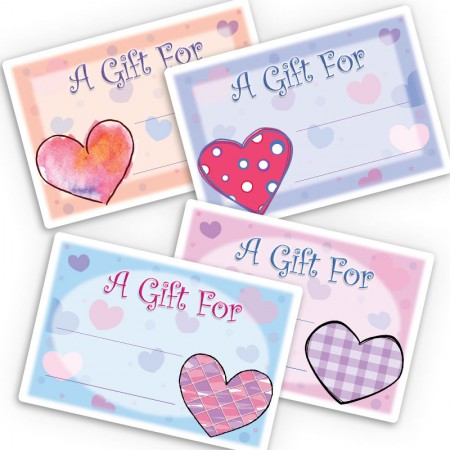 Hearts Gift Labels