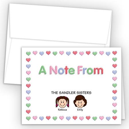 Hearts 1 Foldover Family Note Card