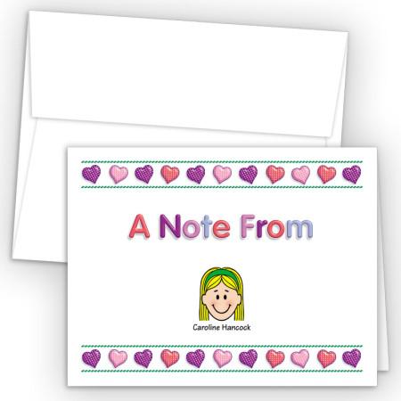 Hearts 2 Family Foldover Note Card
