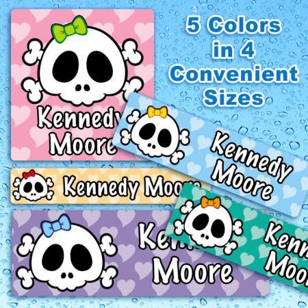 hipster-girl-skulls-waterproof-name-labels-for-kids