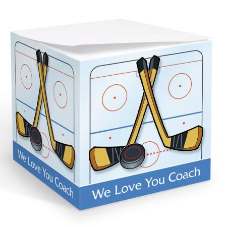 Hockey Memo Cube