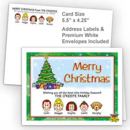 Holiday Bells Merry Christmas Fold Note Set