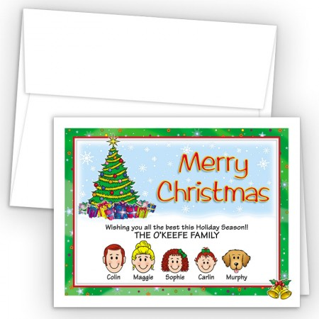 Holiday Bell Merry Christmas Holiday Fold Note Head