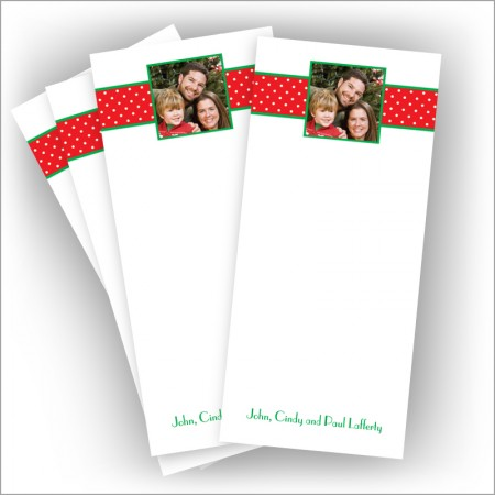 "Holiday Dotted Swiss Photo Pads - 3.5"" x 8"""