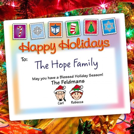 Holiday Stamps Holiday Gift Label